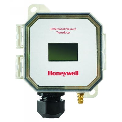 "Panel mount pressure sensor has ± 0-.1"", 0-.25"", 0-.5"", 0-1"" w.c. selectable pressure range, with display"