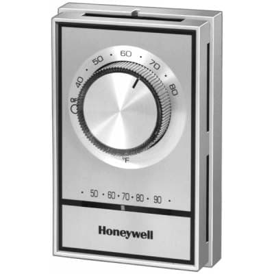 Electricians Replacing Manual Line Level Thermostat With