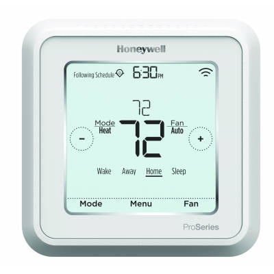 HONEYWELL TH6320WF2003 LYRIC T6 PRO TOUCHSCREEN T-STAT 2H/2C CONV 3H/2C HP W/WI-FI, DUAL FUEL CAPABILITY, VENTILATION CONTROL, FLEX PROG - HARD WIRE ONLY MC363589