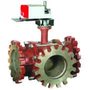 3-way Flange Actuated Control Ball Valve